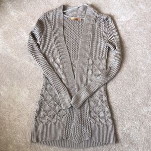 Belldini Crocheted Open Cardigan